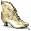 DAME-05 Gold Faux Leather